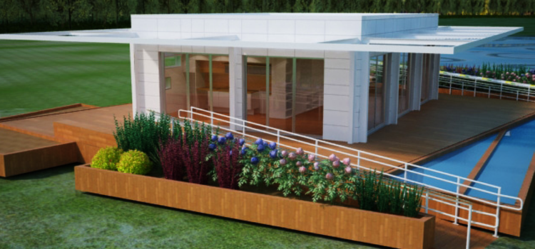 PerFORM[D]ance House rendering with Deck and Planters